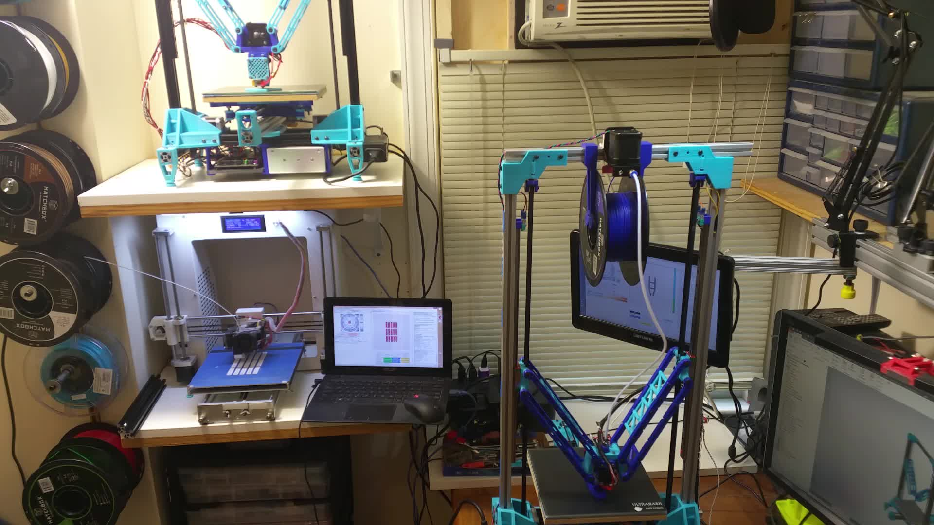 3D Printer, 3D Printing, 3DPrinter, 3DPrinting, Deltesian, Double Deltesian with a Side of Cartesian GIFs