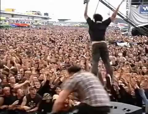 Watch and share Stage Dive GIFs and Daron GIFs on Gfycat