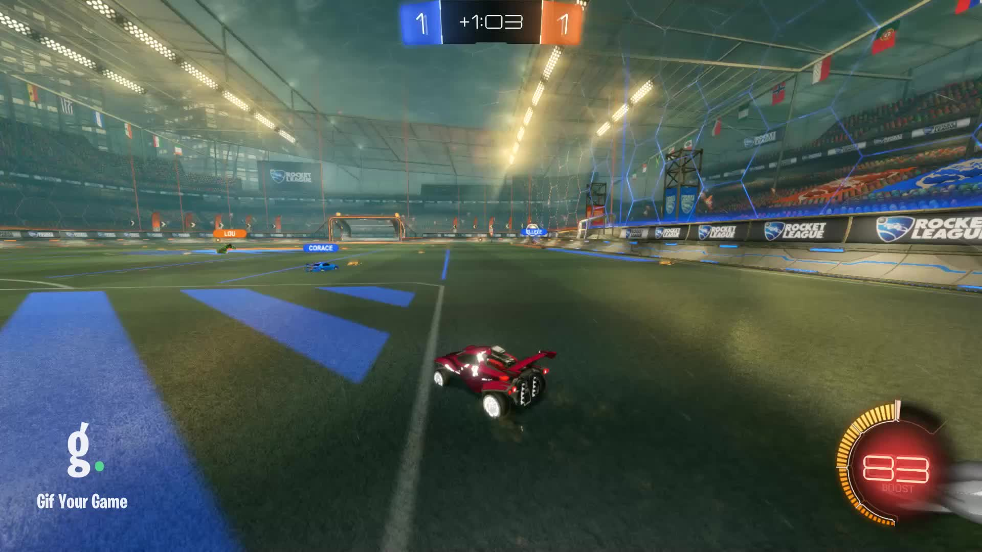Gif Your Game, GifYourGame, Goal, Rocket League, RocketLeague, arin on salvia, Goal 3: arin on salvia GIFs
