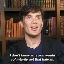 Watch and share Cillian Murphy GIFs and Haircut GIFs on Gfycat