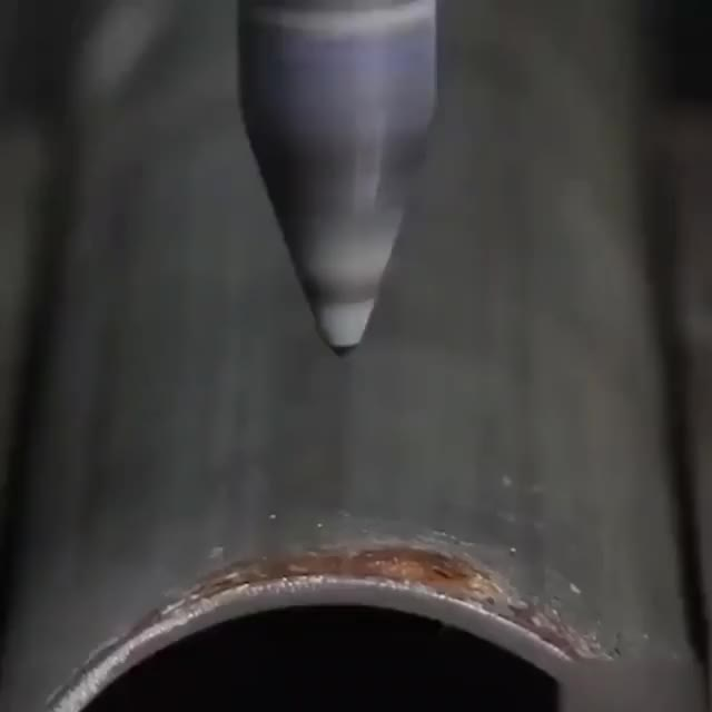 Watch and share Friction Drilling Is A Non-cutting Method For Drilling Holes Into Metal GIFs on Gfycat