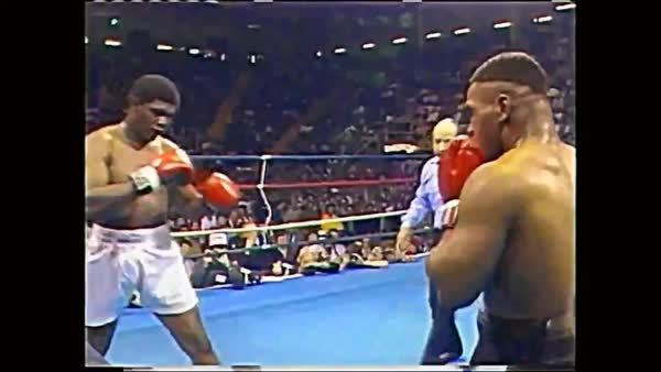 mma, outoftheloop, www.SugarBoxing.com. Mike Tyson slips a flurry  GIFs