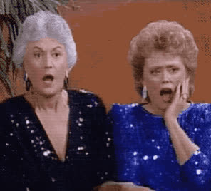 excited, girls, god, golden, happy, my, oh, omg, rue mcclanahan, surprise, surprised, Golden girls - OMG GIFs
