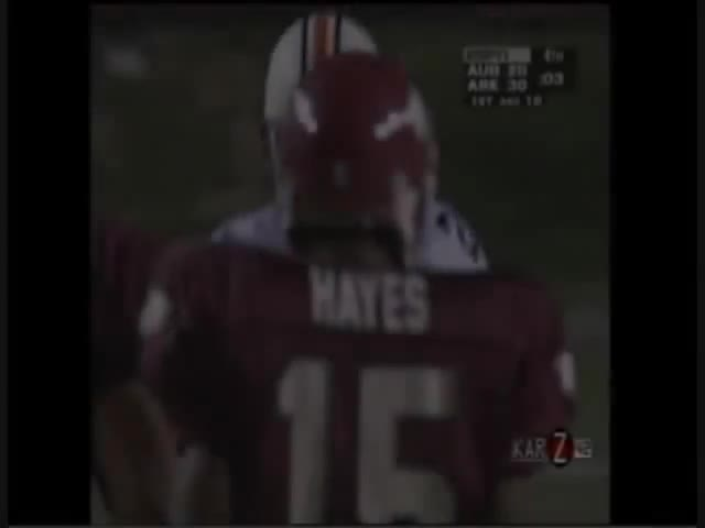 Anthony Eubanks, Barry Lunney Jr., JJ Meaders, Madre Hill, SEC Football, Sports, WARMACHINE2013, yt:stretch=16:9, Arkansas vs. Auburn 1995 GIFs