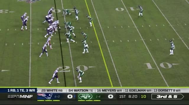 Watch and share 3 Brady Connects With Watson For Another 1st Down GIFs on Gfycat