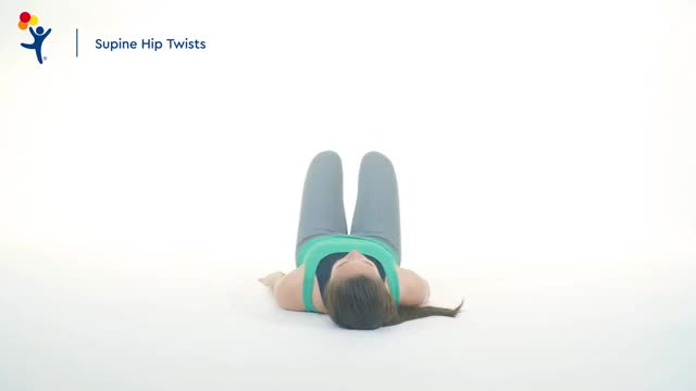 Watch Core Exercise: Supine Twist GIF on Gfycat. Discover more orthopedics GIFs on Gfycat