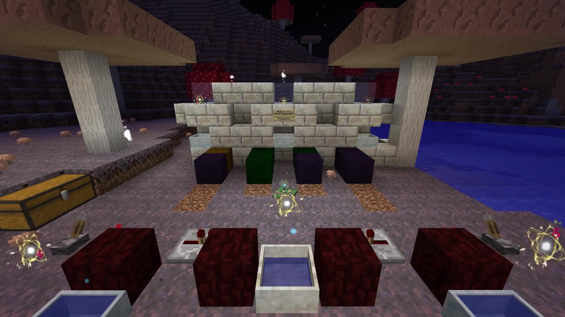 Automation, Botania, Minecraft, Botania Patreon Server Fungal Metamorphic Stone Generator GIFs
