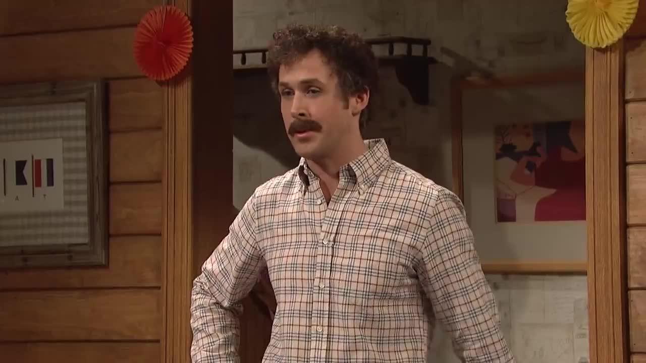 aidy bryant, birthday, celebs, comedy, flirt, flirty, funny, gosling, humor, inappropriate, ryan, ryan gosling, saturday night live, snl, wet, Birthday Party - SNL GIFs