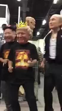Watch and share MONSTERPALOOZA#Trump #Putin #KimJongun #danceparty GIFs on Gfycat