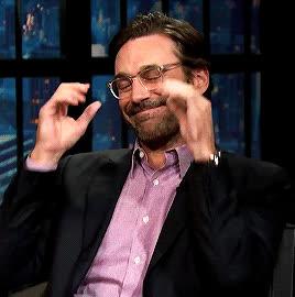 glasses, jon hamm, late night with seth meyers, fred wright-jones GIFs