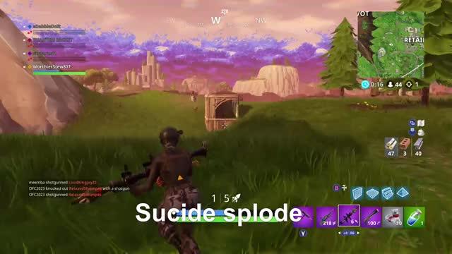 Watch Suicide Splode. GIF by Gamer DVR (@xboxdvr) on Gfycat. Discover more FortniteBattleRoyale, WorthierStew817, xbox, xbox dvr, xbox one GIFs on Gfycat