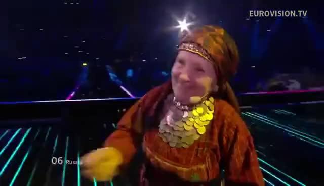 Watch and share Buranovskiye Babushki - Party For Everybody - Live - Grand Final - 2012 Eurovision Song Contest GIFs on Gfycat
