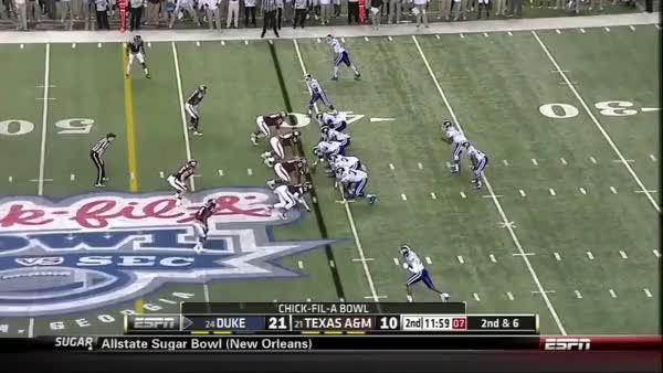 Jamison Crowder (WR, Duke) vs Texas A&M 2013 (reddit)