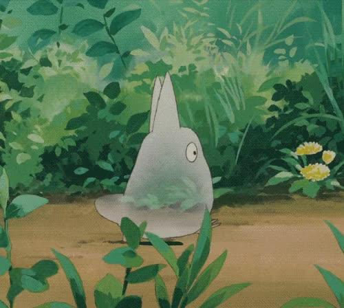 Watch and share Анимация «Маленькое Прозрачное Существо Быстро Перебирает Ножками По Лесной Тропинке, Аниме Мой Сосед Тоторо / My Neighbor Totoro, 1988» GIFs on Gfycat