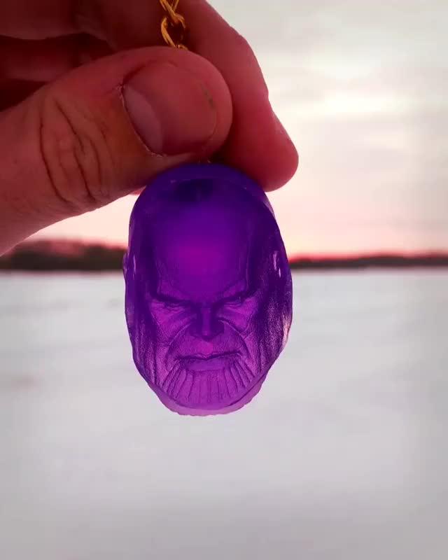Watch reversible thanos keychain GIF by PM_ME_STEAM_K3YS (@pmmesteamk3ys) on Gfycat. Discover more Avengers, AvengersInfinityWar, Etsy, Thanos, fanart, keychain, madtitan, purple, sculpture, thanoscar GIFs on Gfycat