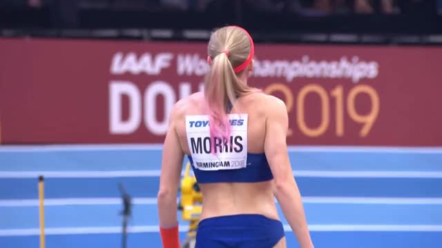 Watch and share Sandi Morris - IAAF World Indoor Championships Birmingham 2018 (10) GIFs on Gfycat