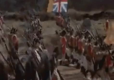 Watch and share Revolutionary Wars British Line Marches Under Cannon Fire GIFs by nurdbot on Gfycat