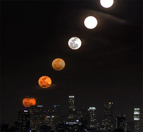 blood moon, moon, planet, time lapse, timelapse