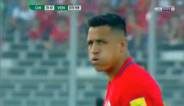 Watch and share Alexis Sanchez Amazing Goal - Chile Vs Venezuela - 3-1 - World Cup 2018 28/03/2017 HD GIFs on Gfycat