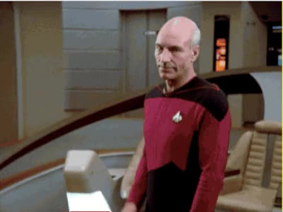 Watch this awkward GIF by Star Trek gifs (@star-trek-gifs) on Gfycat. Discover more awkward, captain picard, hello, hey, hi, jean-luc picard, patrick stewart, picard, reaction, star trek, star trek the next generation, the next generation, tng GIFs on Gfycat
