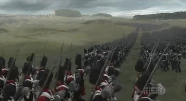 Watch and share Napoleonic Wars French Old Guard Advance In Columns GIFs by nurdbot on Gfycat