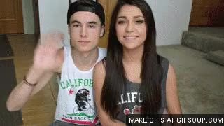 Watch and share Andrea Russett And Kian Lawley GIFs on Gfycat