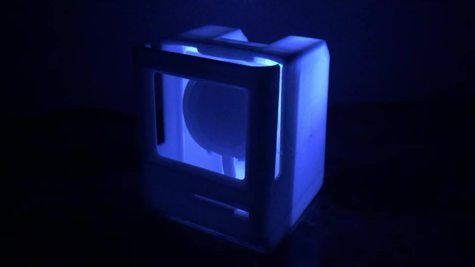 applewatch, I hooked up a little blue LED and now my dock is a night light as well! GIFs