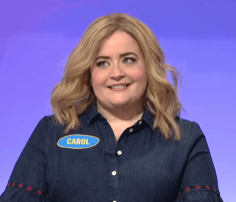 aidy bryant, awkward, shifty eyes, snl, uh oh, uncomfortable, yikes, Family Feud Thanksgiving - SNL GIFs