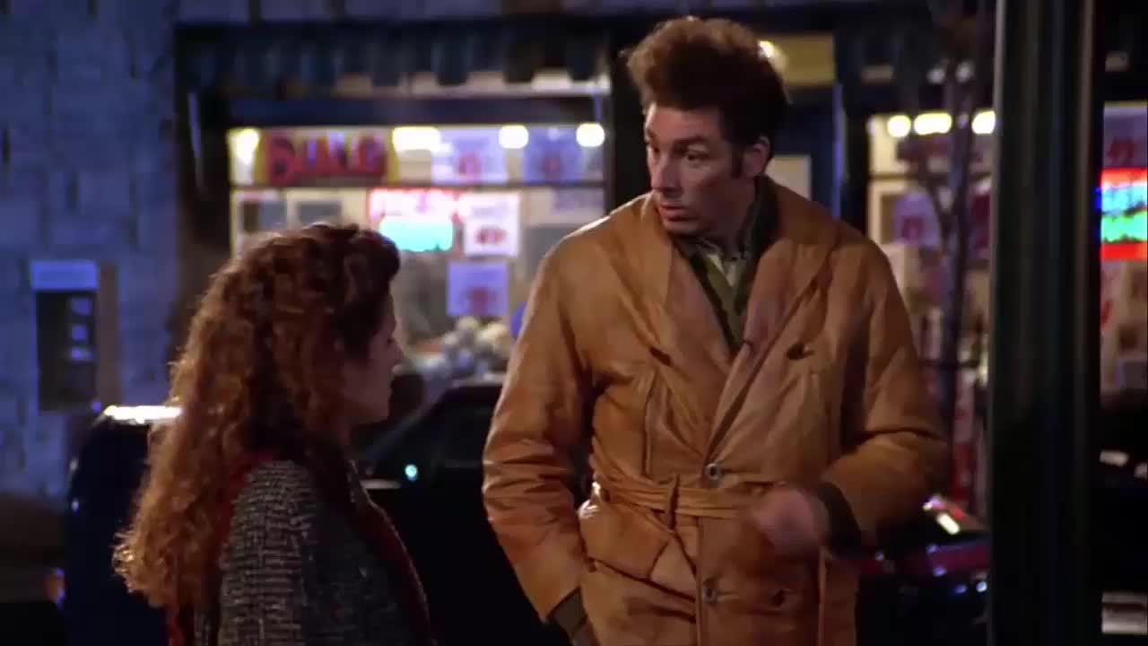 julia louis dreyfus, kramer, michael richards, seinfeld, Kramer and Elaine Talk About Michael Jordan GIFs