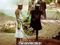 Watch and share Holy Grail, Movie, Monty Python, The Black Knight, Invincible GIFs on Gfycat