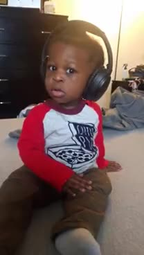 headphones, Toddler Wears Headphones GIFs