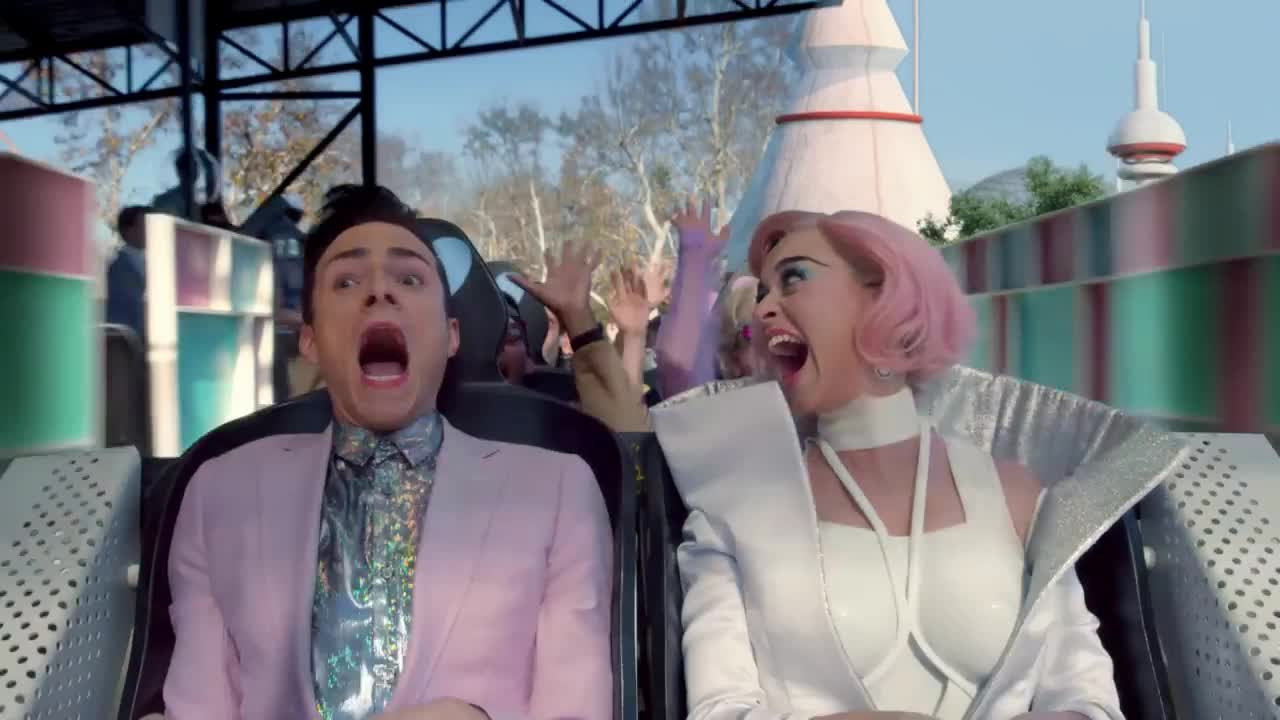 katy, katy perry, love, marley, me, perry, rhythm, scared, scream, skip, yell, Katy Perry - Chained To The Rhythm (Official) ft. Skip Marley GIFs