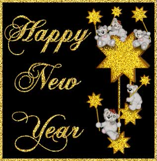 Watch and share Happy New Year Animated Greeting Card GIFs on Gfycat