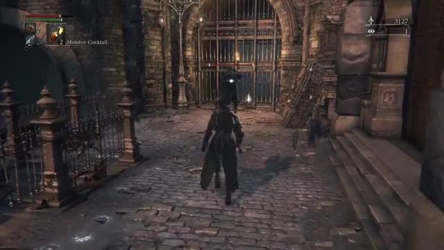 Watch AWAY! AWAY! *swings torch* (gif) (reddit) GIF on Gfycat. Discover more Gamingcirclejerk, bloodborne GIFs on Gfycat