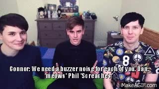 Watch BRB FANGIRLING GIF on Gfycat. Discover more alfie deyes, amazingphil, animal noises, cats, connor franta, dan howell, danisnotonfire, emo goose, geese, goose, idek anymore, meow, phan, phil lester, pointlessblog GIFs on Gfycat