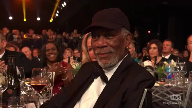 Watch and share Morgan Freeman GIFs and Sag Awards GIFs by Reactions on Gfycat