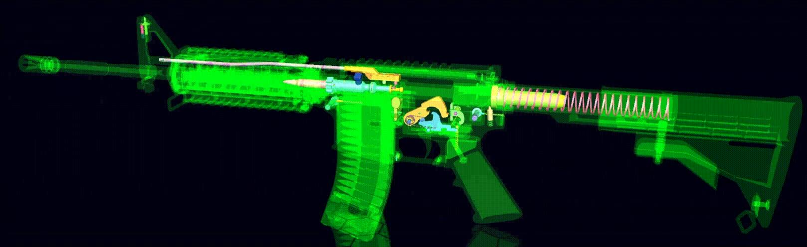 How an AR-15 works. : educationalgifs GIFs