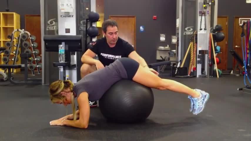 Ball Reverse Hip Extensions GIFs