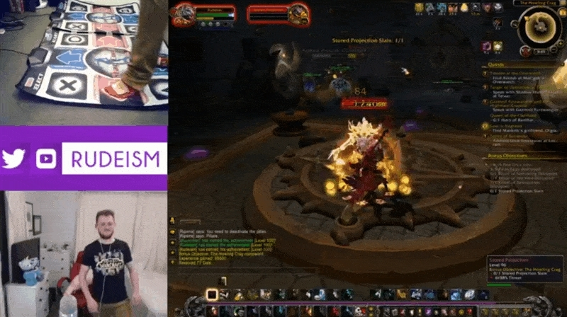 gaming, ofcoursethatsathing, Rudeism has reached Level 100 in World of Warcraft using only his feet! (reddit) GIFs