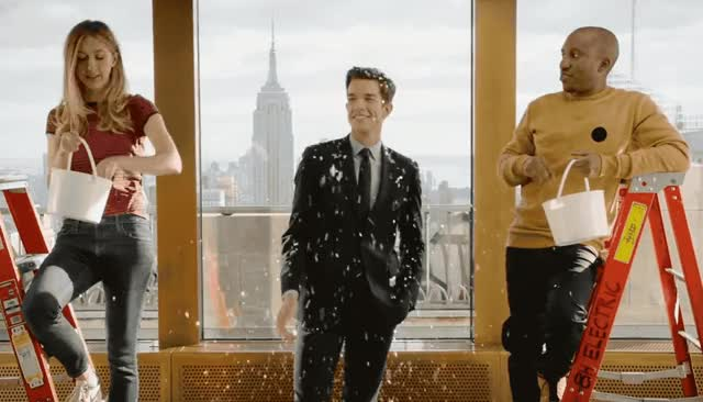 Watch this party GIF by GIF Queen (@ioanna) on Gfycat. Discover more birthday, budget, celebrate, confetti, congratulations, cut, funny, happy, hooray, john, live, lol, mulaney, night, pose, saturday, smile, snl, well done GIFs on Gfycat