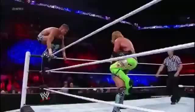 Watch Spinebuster & Diving Blockbuster combination GIF on Gfycat. Discover more blockbuster, justin gabriel, spinebuster, tag team, tyson kidd GIFs on Gfycat