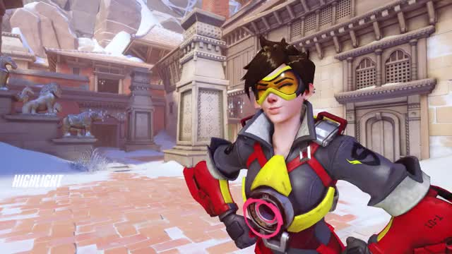 Watch cheeky GIF by Mordred (@cooki3z) on Gfycat. Discover more Overwatch, Pulse Bomb, Tracer, highlight GIFs on Gfycat