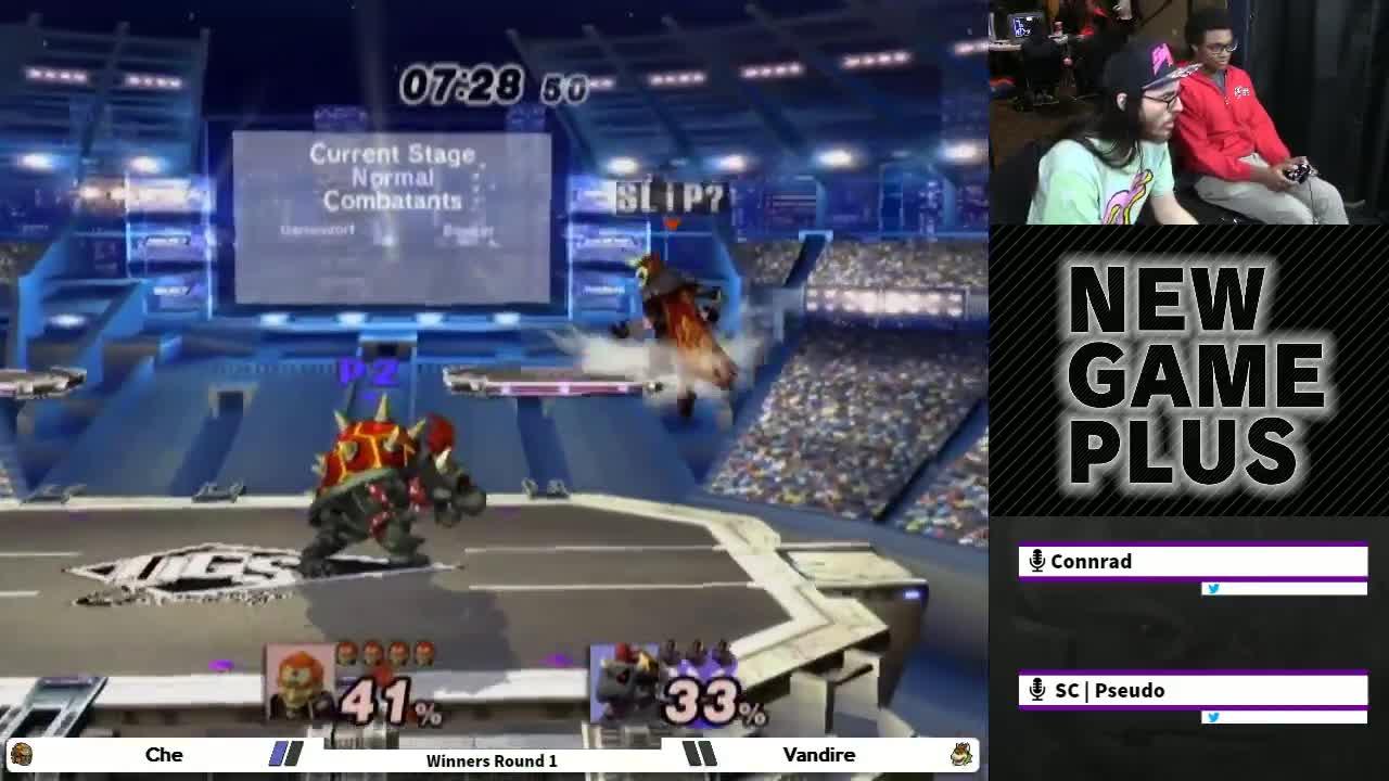 gaming, shinecorp, Che (Ganon) vs Vandire (Wario, Bowser) - New Game Plus PM Bracket GIFs