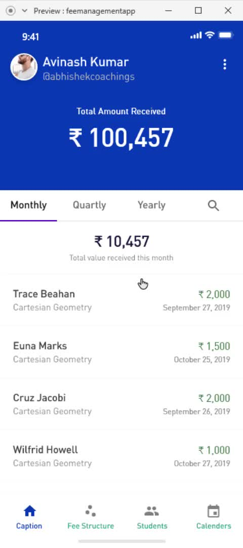 Watch and share Fee Management App Interaction GIFs by anuj152 on Gfycat