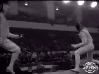 Watch 1964 Martini Challenge GIF by Stuff (@ajslim) on Gfycat. Discover more fencing, foil, spoerts GIFs on Gfycat