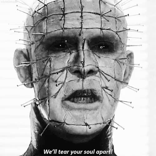 Watch Hellraiser (1987) GIF on Gfycat. Discover more cannibalsuxx, doug bradley, gif, gifs, hellraiser, horror, pinhead, scary, the hellbound heart GIFs on Gfycat