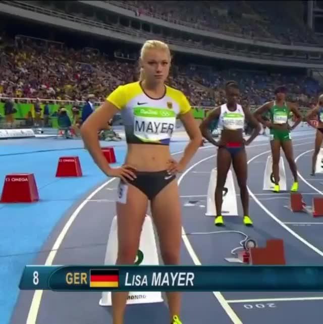 Watch and share Lisa Mayer Olympics GIFs by kentuckyblue25 on Gfycat