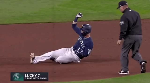 Watch and share Lookout Landing - Sliding Into Your DMs Like... #Mariners #Hanimal GIFs on Gfycat