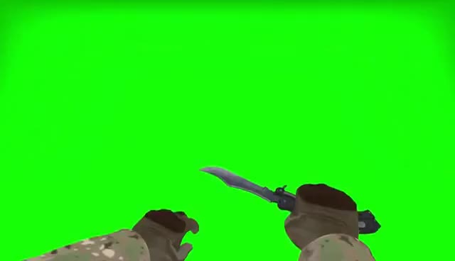 Watch and share CS GO Butterfly Knife Green Screen GIFs on Gfycat
