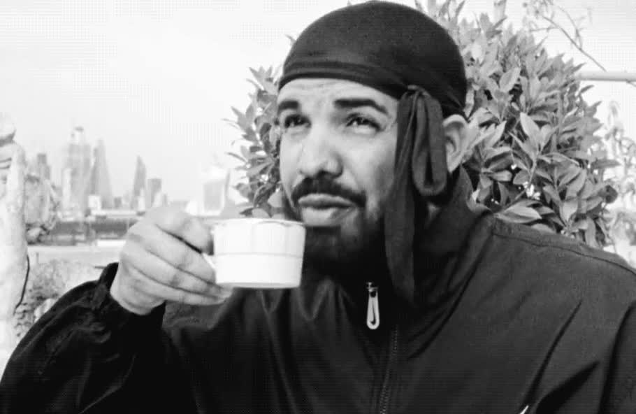aaa, black, clip, coffee, cup, drake, drink, good, latte, morning, new, nice, nonstop, ritual, song, tasty, tea, thirsty, white, yummy, Drake - Nonstop GIFs